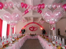 Как украсить свадьбу воздушными шарами